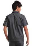 重庆涤棉斜纹铁灰短袖工作服