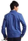 重庆宝蓝长袖纯棉工作服