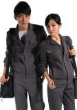 重庆铁灰长袖纯棉工作服