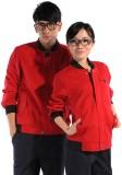 重庆欧迈红色长袖纯棉工作服