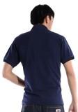 重庆欧迈深蓝极品酷棉双珠地素色POLO衫