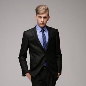 重庆欧迈男士修身两粒单排扣重庆西服套装