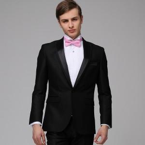 重庆欧迈男士修身一粒单排扣套西 西装
