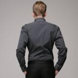 重庆欧迈男士商务素色纯棉修身长袖