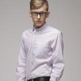 重庆欧迈男士 纯棉 条纹修身长袖