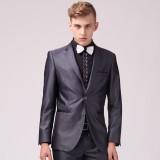 重庆欧迈男士绅士韩版修身重庆西服套装