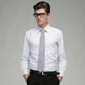 重庆欧迈男士商务 修身 全棉细格 长袖