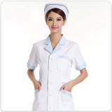 重庆护士服短袖夏装短款衣白色半袖药店服实验室白大褂美容服