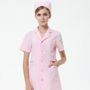 包邮重庆护士服短袖粉色白色美容院医院药店工作服夏装薄款牙科口腔服