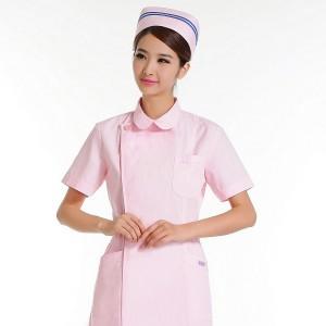 重庆护士服短袖半袖夏装美容师药店工作服 粉红白蓝色前台导医