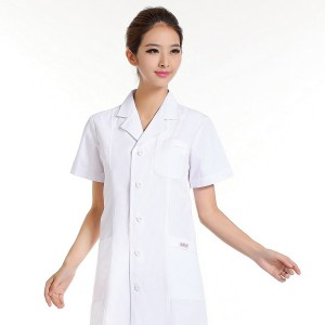 女医生服 卫校实验服 重庆护士服短袖白色夏装 药店服 白大褂