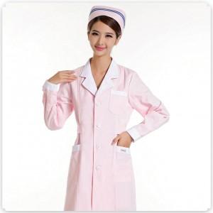 新款促销 重庆护士服 长袖 粉色冬装白色蓝色加厚美容服药店服
