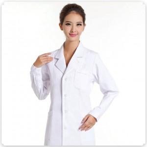 菲鱼儿 女医生服 卫校实验服 重庆护士服长袖白色冬装 药店服 白大褂