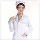 重庆护士服长袖白色冬装制服白大褂长袖女加厚上衣药店工作服