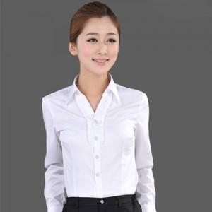 爆款女白衬衣秋装女长袖正装工作服OL通勤工装衬衣大码