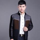 欧迈秋冬季新款韩版中青年男士装时尚休闲针织保暖薄棉衣夹克外套短