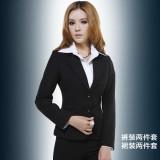 韩版女装春秋季套装时尚长袖正装修身工作服西装