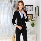 職業裝女裝時尚秋裝長袖工作服西裝重庆西服套裝女士正裝