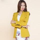 小西装女秋冬新款 修身韩版女式重庆西服 一粒扣外套