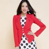 小西装女 女装秋季新款 修身雪纺重庆西服 单排扣外套