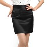 秋冬季职业裙女装 韩版修身收腰性感A字裙 包臀裙短裙黑色半身裙