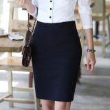 秋装新款韩版修身显瘦半身裙OL通勤中裙子百搭一步包臀裙女
