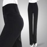 新款女西裤修身直筒裤秋冬女装大码OL高腰长裤职业休闲西装裤