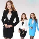 秋冬新款职业女套装修身韩版小西装+裙子白领工作服 女式工作服