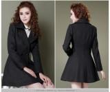 秋冬装新款 韩版OL修身女装 西装领毛呢大衣呢子外套