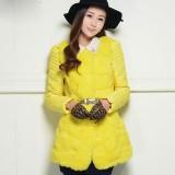正品中长款羽绒服女款潮韩版冬装女新款兔毛皮草修身甜美