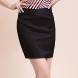 女士职业一步裙春夏季OL工作包臀半身西装裙正装裙子短群大码黑色