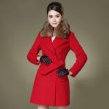 冬装新款 韩版OL修身女装 秋冬羊毛呢大衣呢子外套