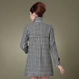 冬装新款 韩版OL修身女装 秋冬立领毛呢外套呢子大衣