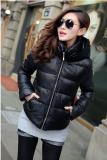 冬装新款 韩版时尚连帽蕾丝花边短款显瘦棉衣棉服包邮