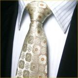 高档精品 色织真丝领带套装 小碎花浅色正装领带套装