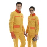 冬季长袖工作服 工衣工服防静电反光棉衣套装