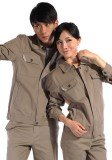 春秋冬季长袖工作服 工衣工服纯棉工人工作服套装