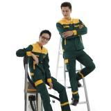 汽修加油站工作服套装男女 防静电反光工装套装 防静电 反光条 魔术贴暗扣