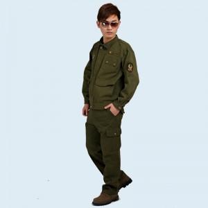 长袖工作服 套装 男 重庆劳保服秋冬迷彩服 电焊服户外军装外套男长袖