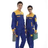 汽修加油站工作服套装男女 防静电反光安全工装套装 防静电 反光 魔术贴暗扣 安全