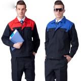 长袖工作服套装男 工程服管理员电焊工衣厂服重庆劳保服装