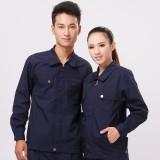 新款黑蓝色涤棉工作服套装 秋冬装车间工装厂服