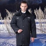 保安大衣冬季保安服装多功能大衣防寒服劳保棉衣城管冬装
