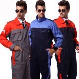 连体工作服 套装 男 工厂电焊工程服 汽车机修连体工作服 连体服