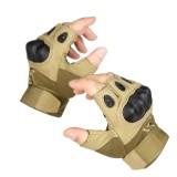 自由兵户外 军迷战术盔甲半指低调防护手套 我是特种兵3手套