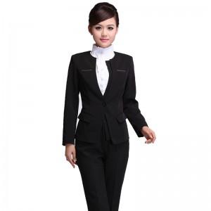 商场珠宝店专柜营业导购员制服 企业管理白领 女重庆西服长袖