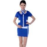 前台领班制服 职业 酒店工作服套装 空姐服 短袖套裙