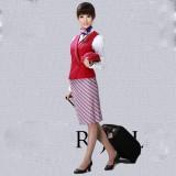 空姐服 企业OL工作服制服客服营业员女装 女裙马夹套装