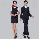 空姐服 时尚工作服制服 马夹外套空姐套装 藏蓝色