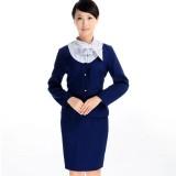 巴士 航空铁路制服酒店工作服套装 女 前台服务员工作服长袖 新款